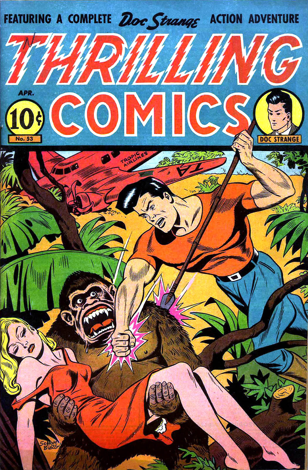 Thrilling Comics #53 by Pines