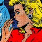 Blonde in Red icon - Art from Eerie #9 by Avon