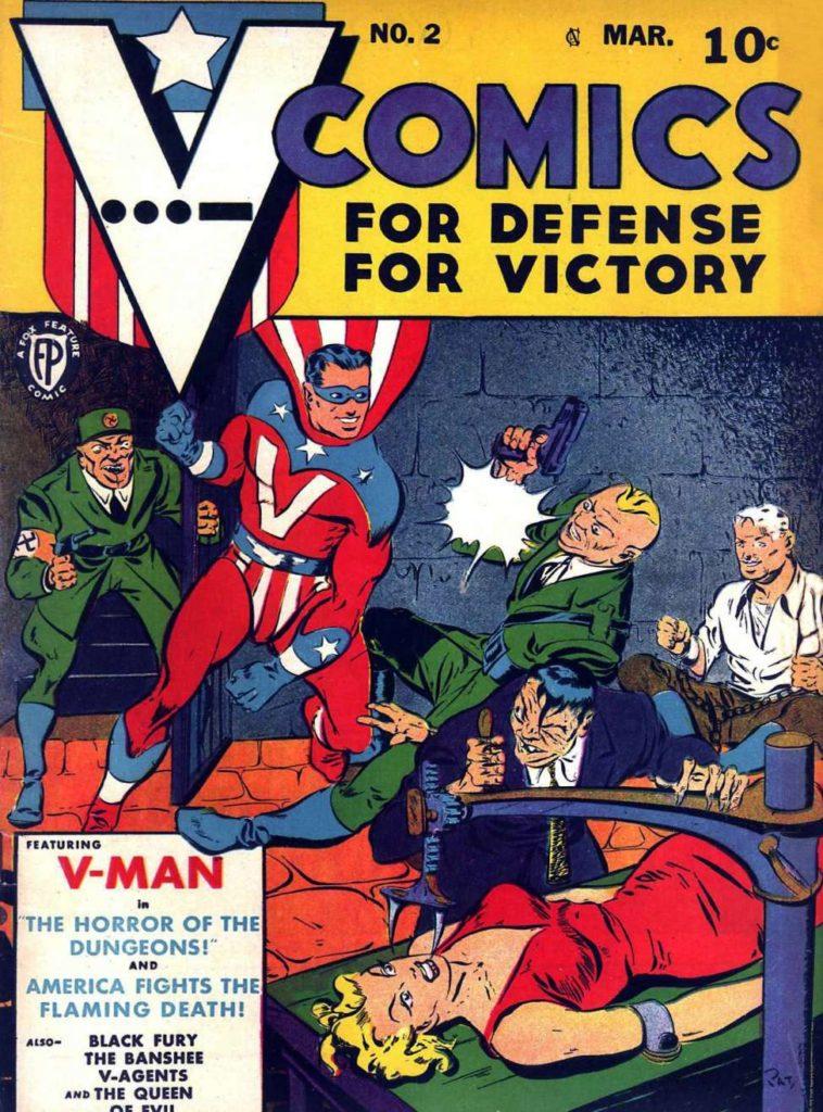 V...- Comics #2, Fox Features