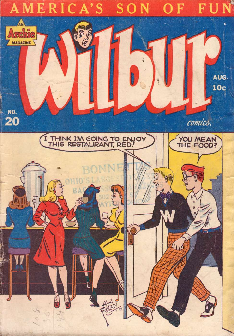 Wilbur Comics #20, MLJ
