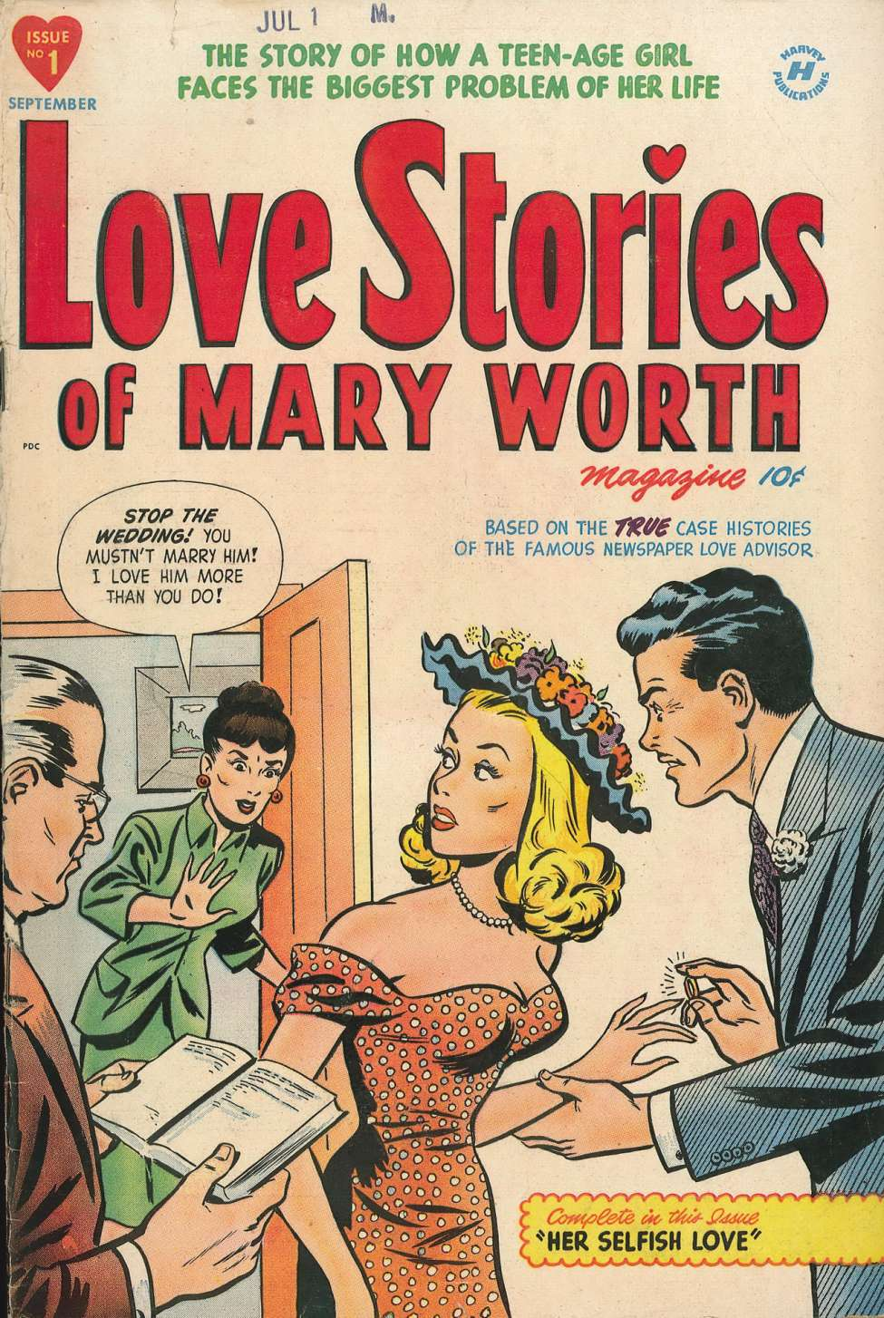 Love Stories of Mary Worth #1, Harvey