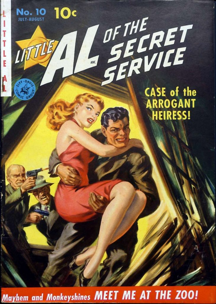 Little Al of the Secret Service #10, by Ziff-Davis
