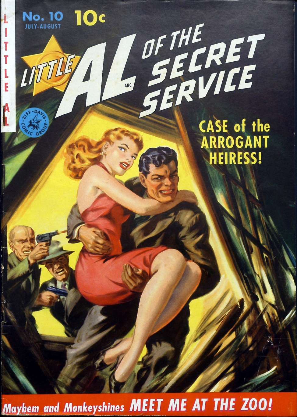 Little Al of the Secret Service #10, by Ziff-Davis