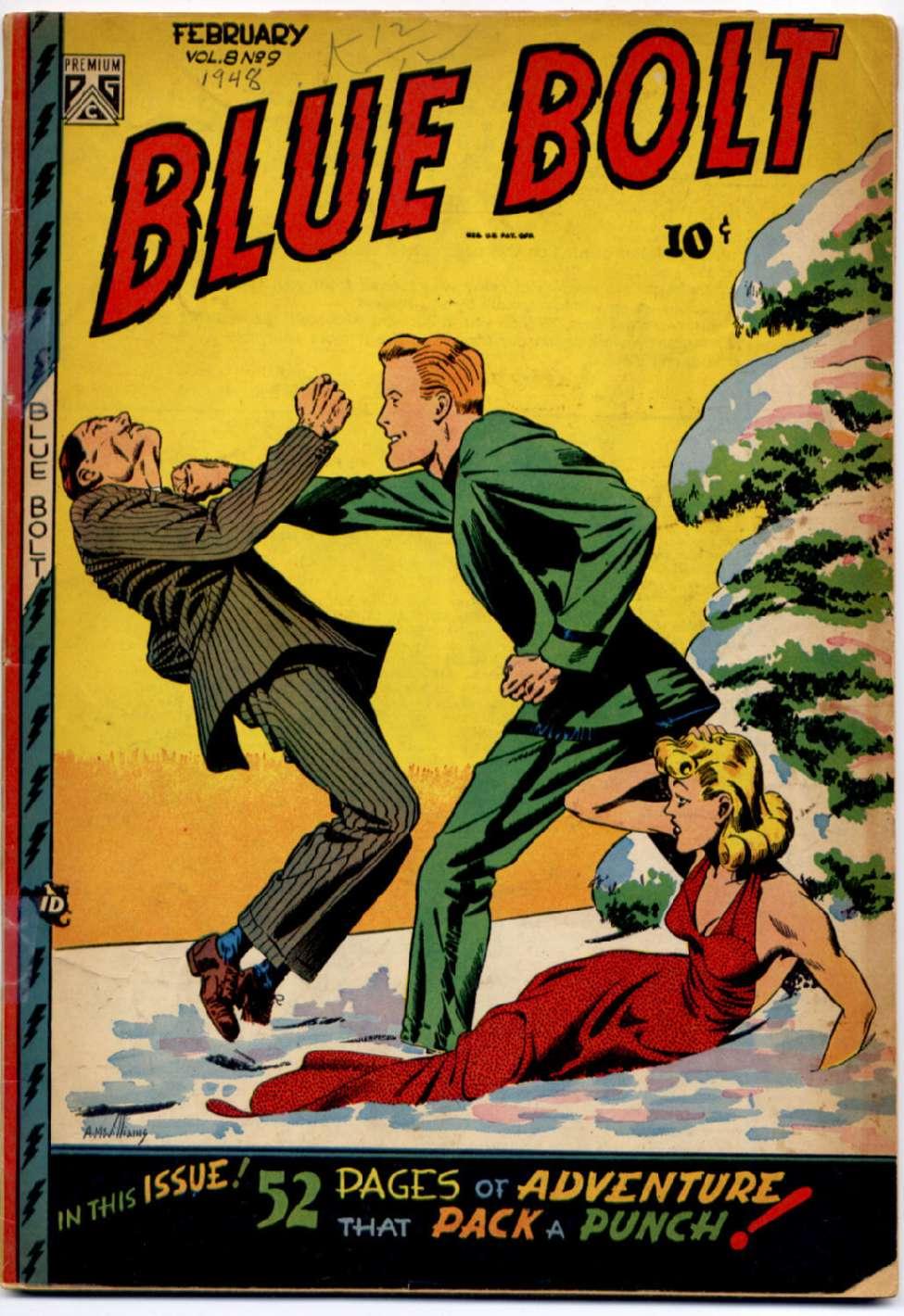 Blue Bolt v8 #9, Novelty