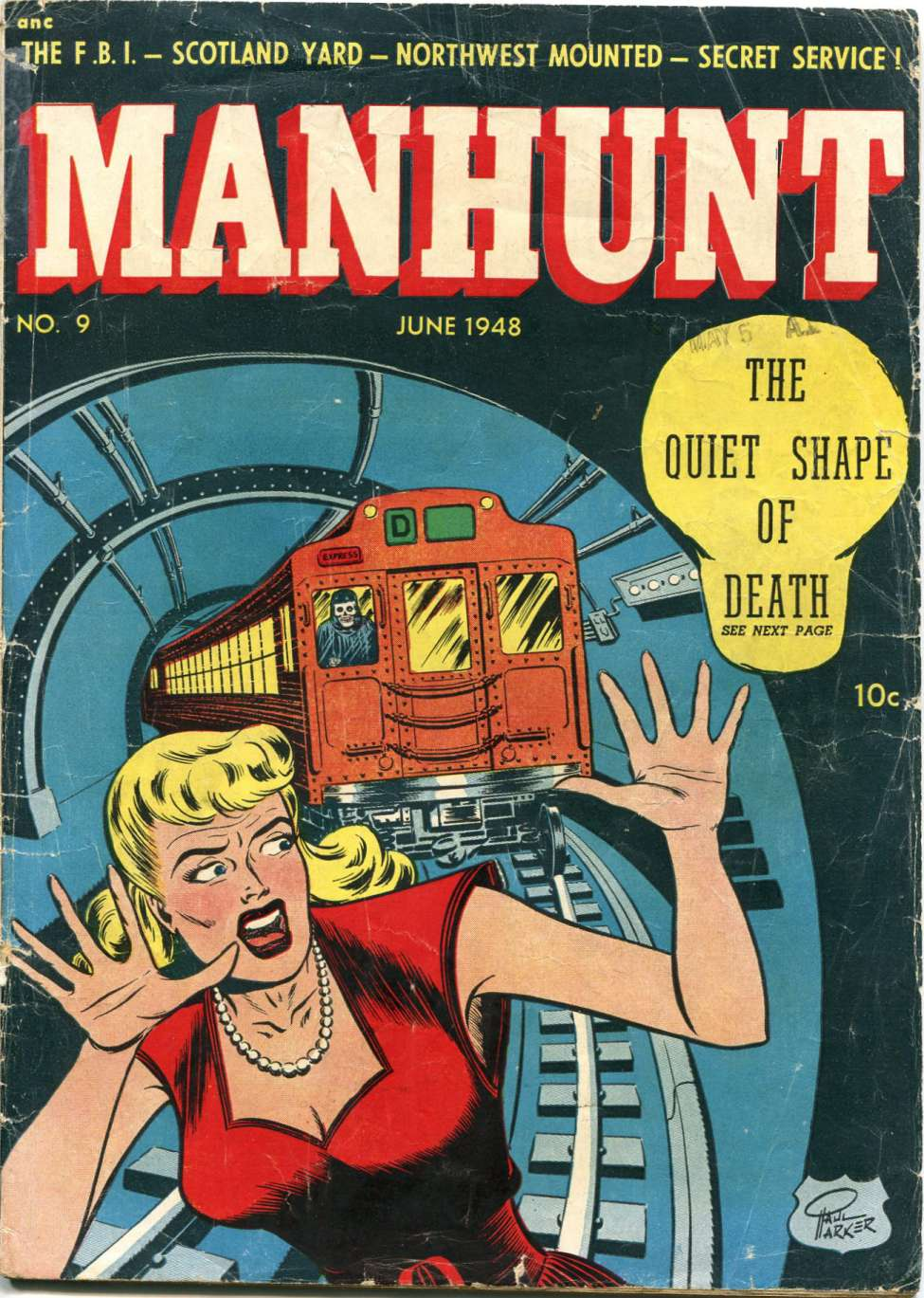 Manhunt #9, Magazine Enterprises