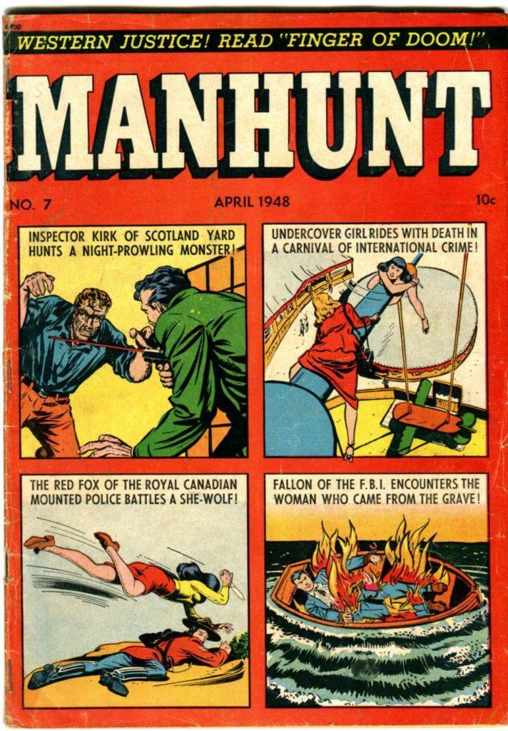 Manhunt #7, Magazine Enterprises